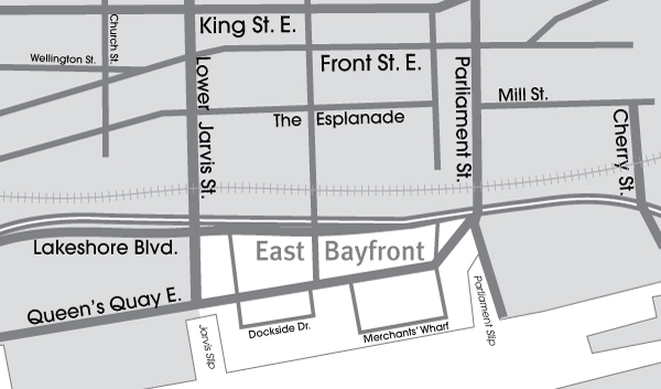 EastBayfront map