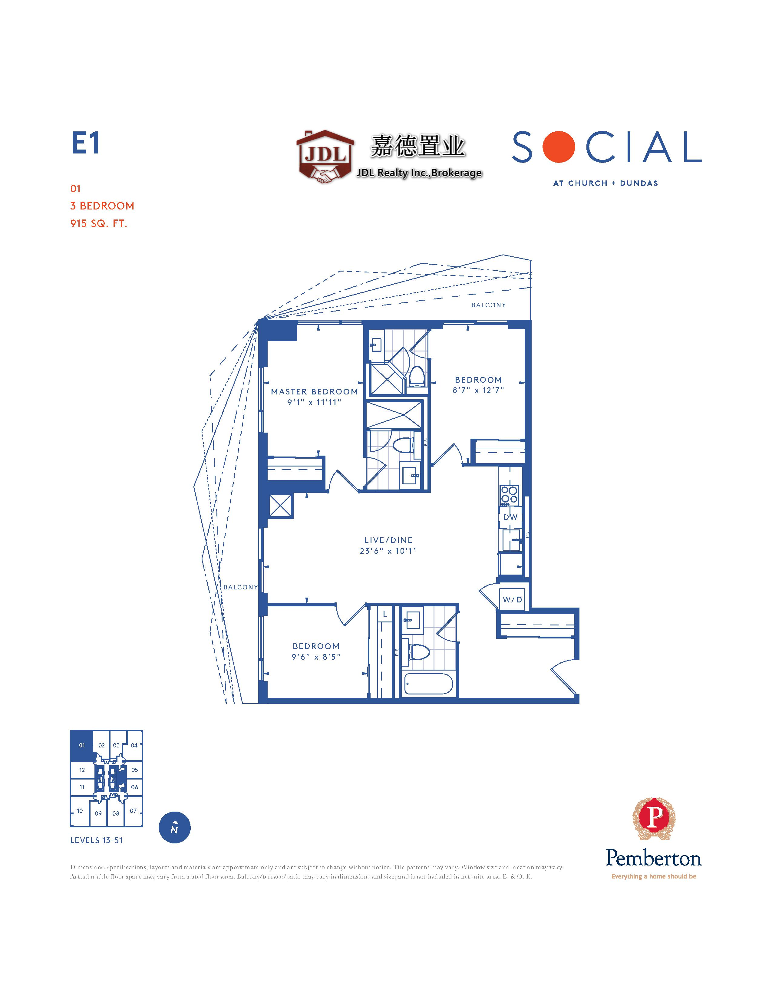 Social Tower floor plan 1