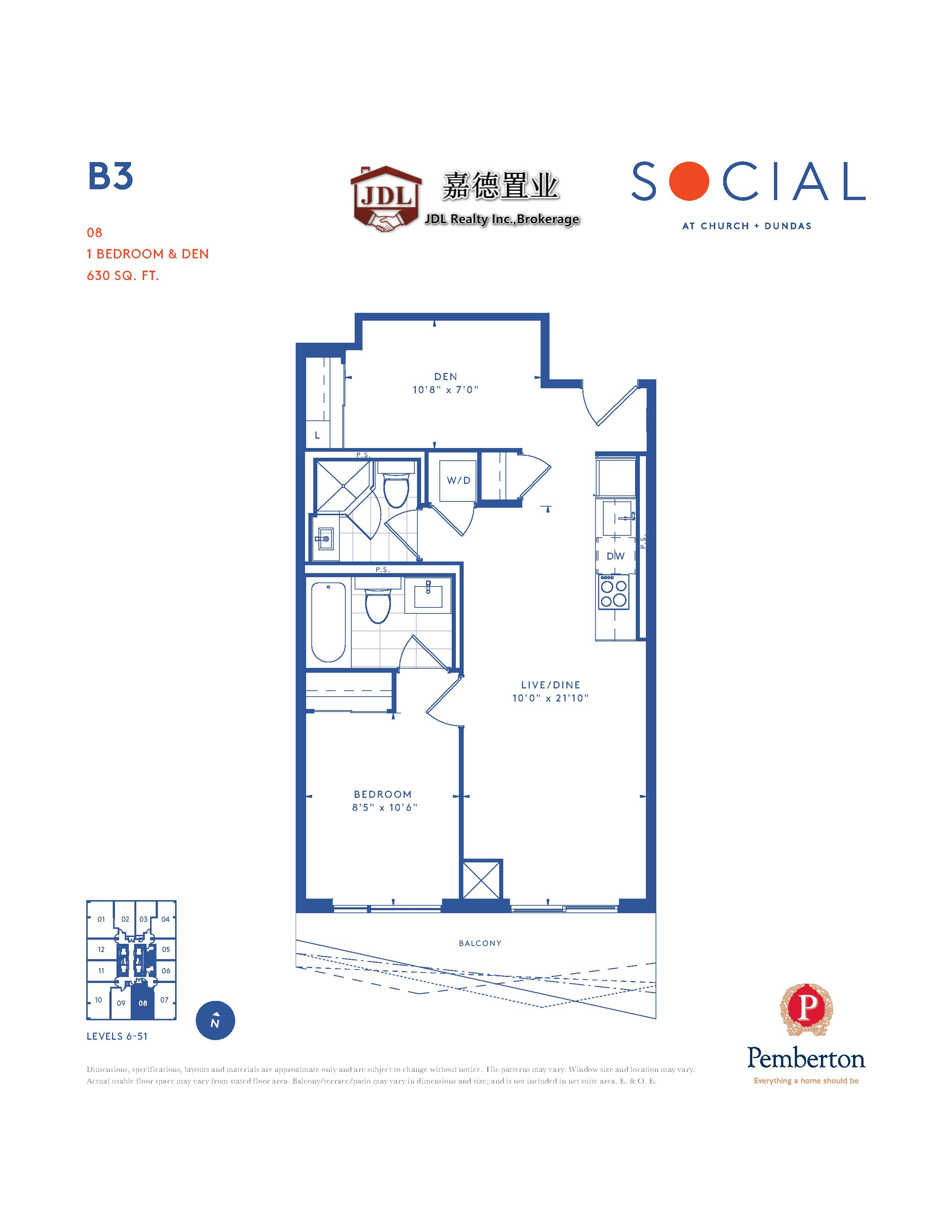 Social Tower floor plan 1 10