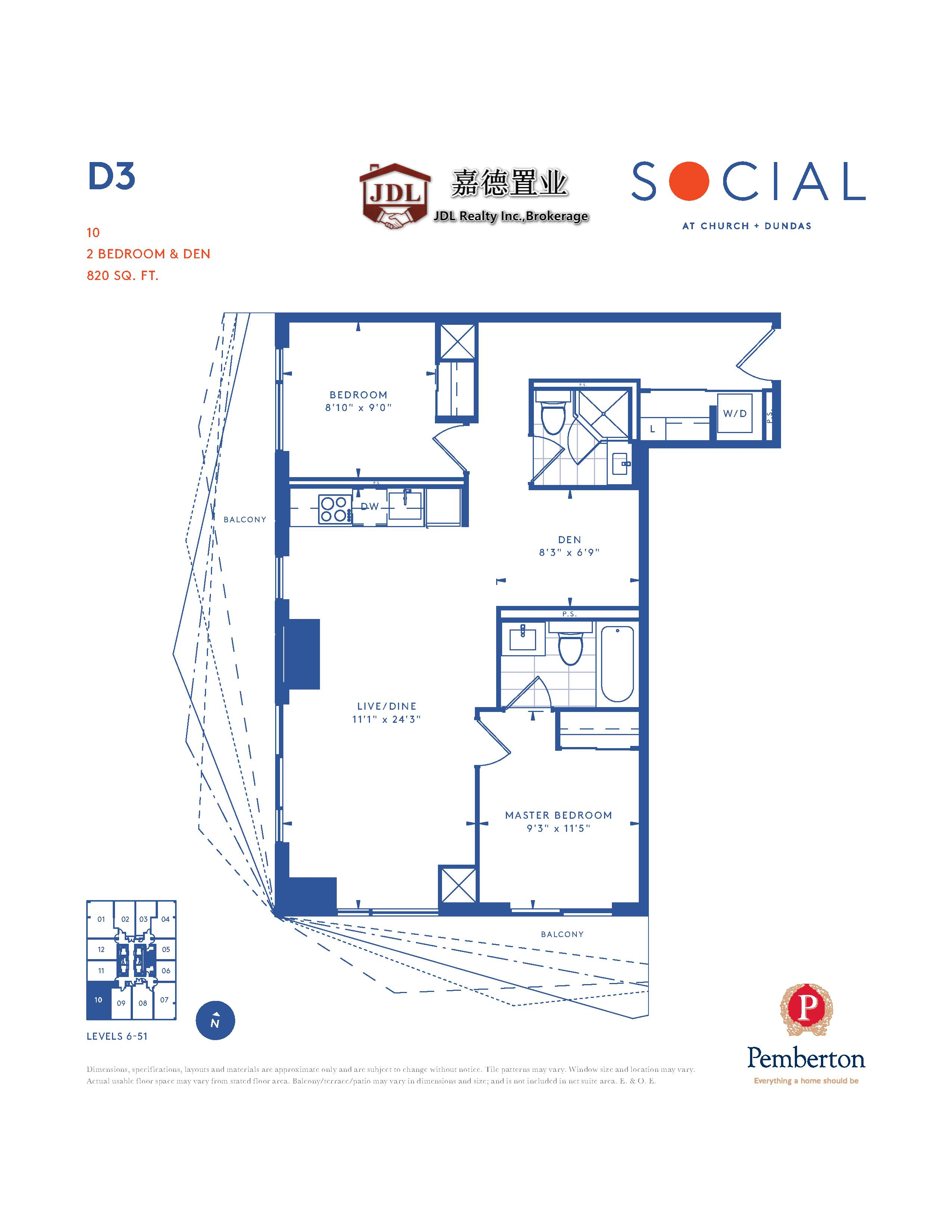 Social Tower floor plan 1 12