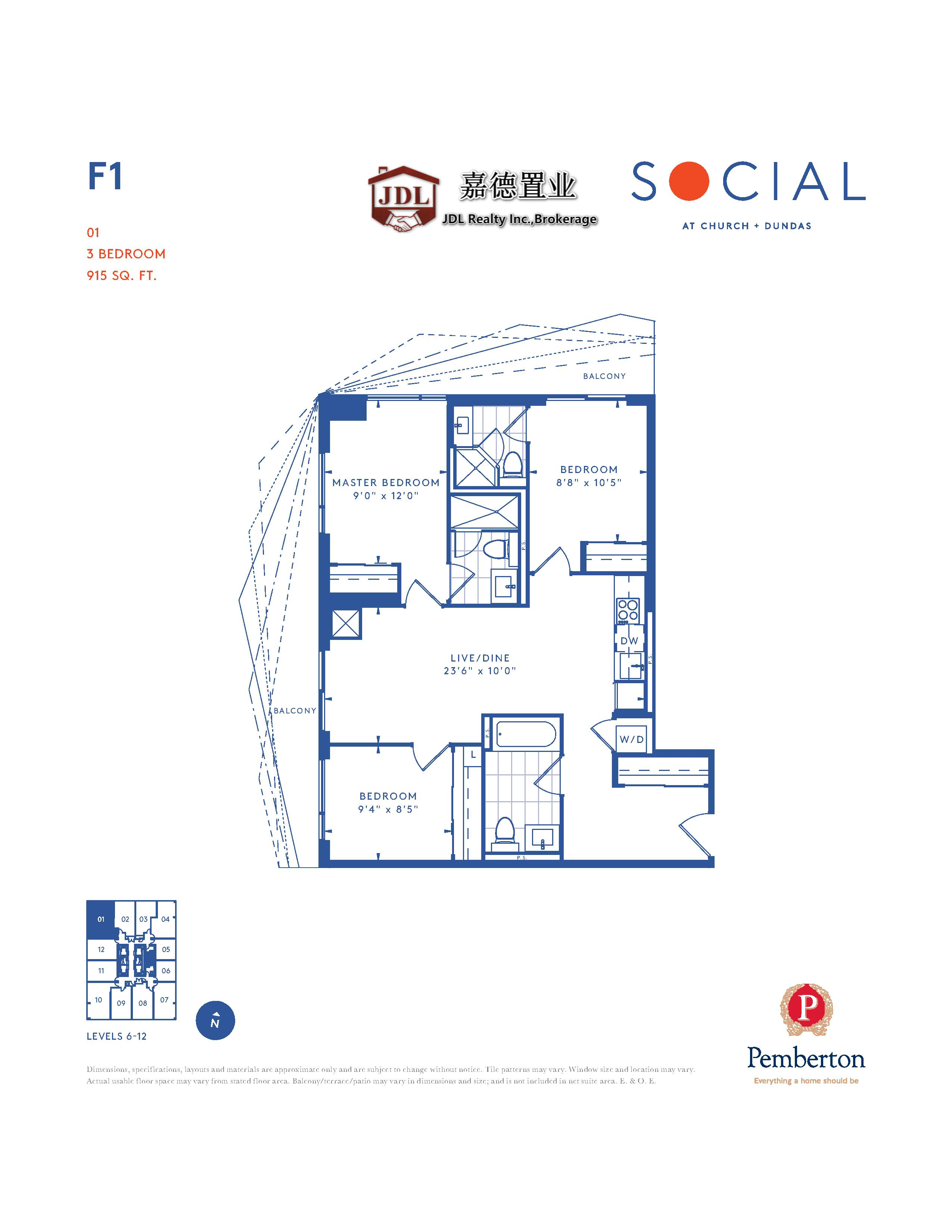 Social Tower floor plan 1 2