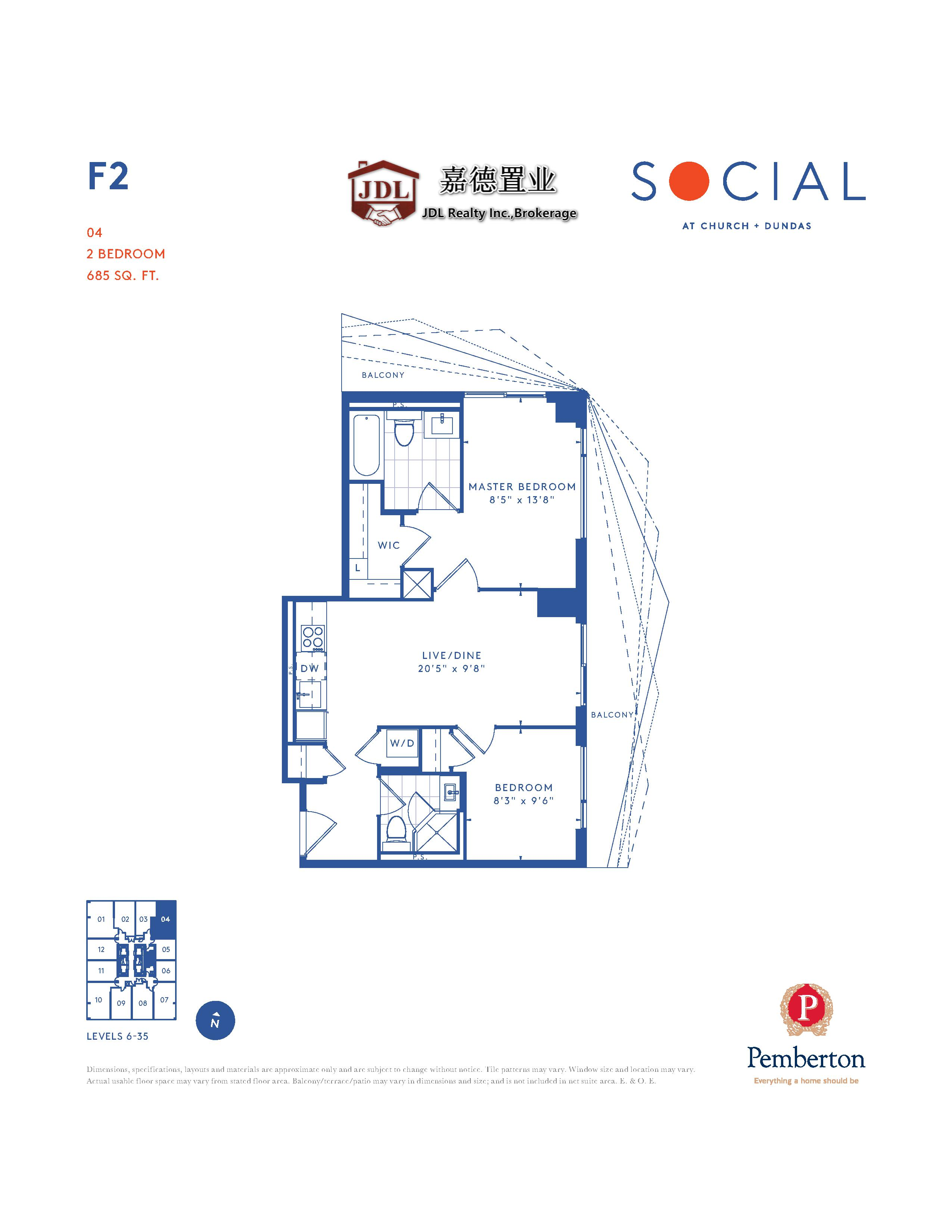 Social Tower floor plan 1 6