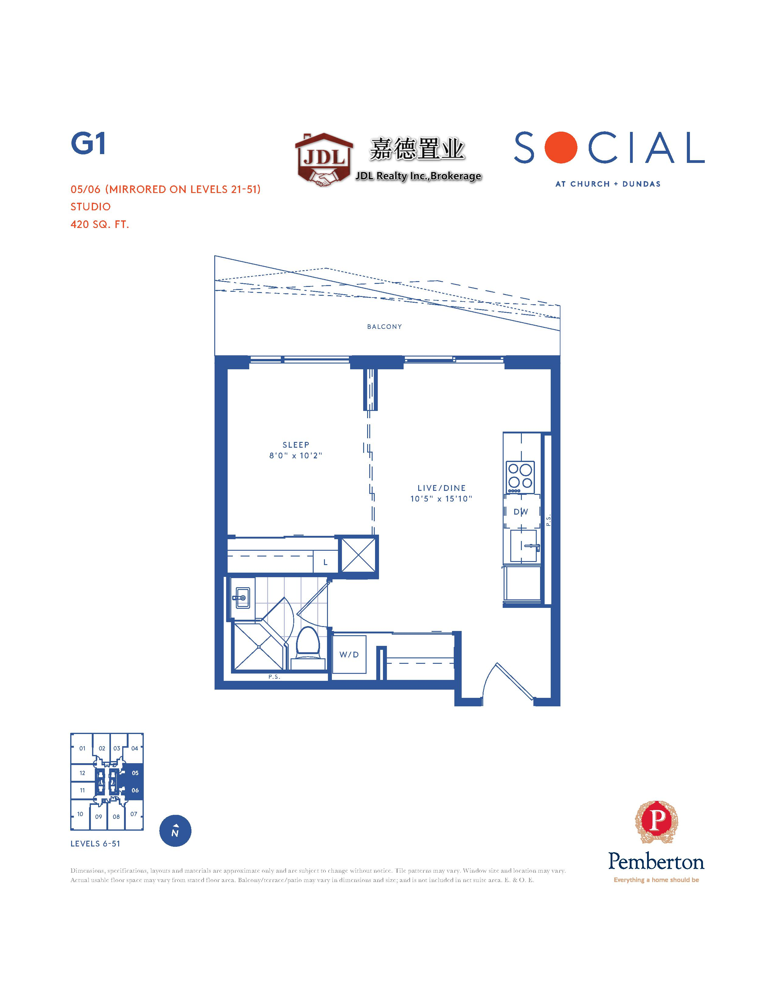 Social Tower floor plan 1 8